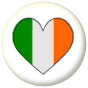 Ireland Country Flag Heart 58mm Mirror